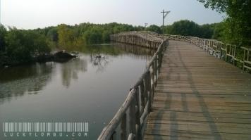 Ini jembatan panjang yang disusun dari kayu-kayu pipih, melintang di atas danau. Bentuknya yang melebar, didukung pemandangan di sekitarnya, bisa banget dijadikan latar berfoto.